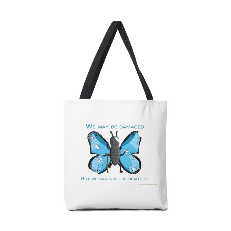 Battle Damaged Butterfly Accessories Bag by Every Drop's An Idea's Artist Shop