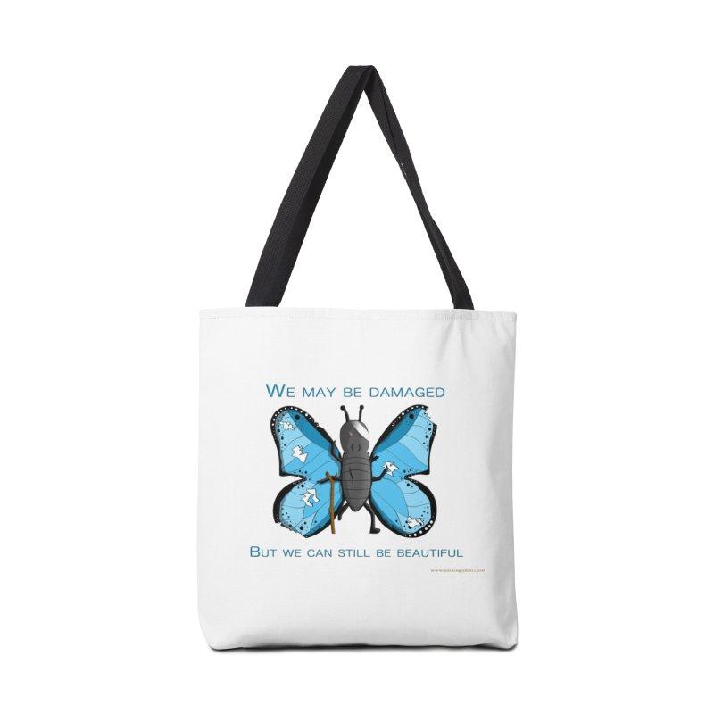 Battle Damaged Butterfly Accessories Bag by Every Drop's An Idea's Artist Shop