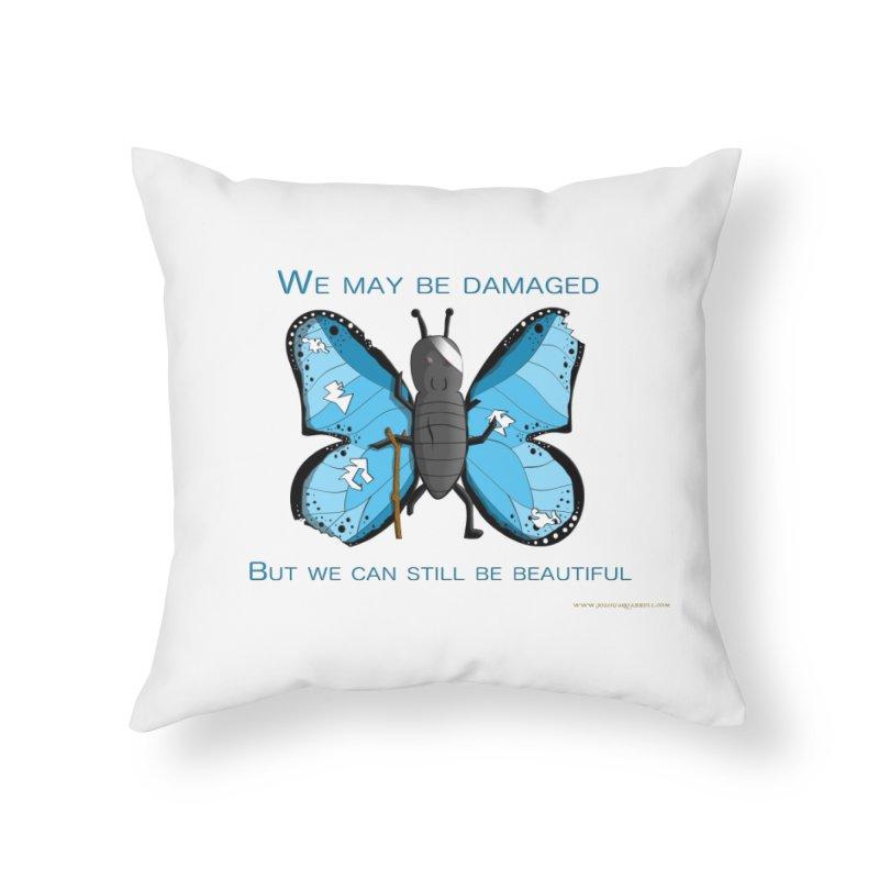 Battle Damaged Butterfly Home Throw Pillow by Every Drop's An Idea's Artist Shop
