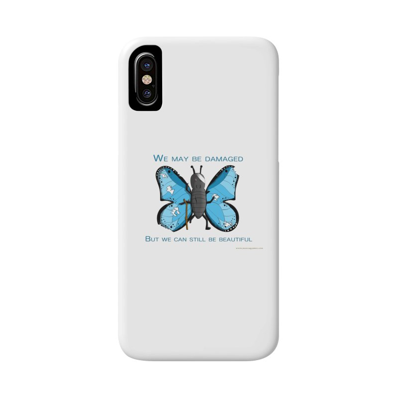 Battle Damaged Butterfly Accessories Phone Case by Every Drop's An Idea's Artist Shop