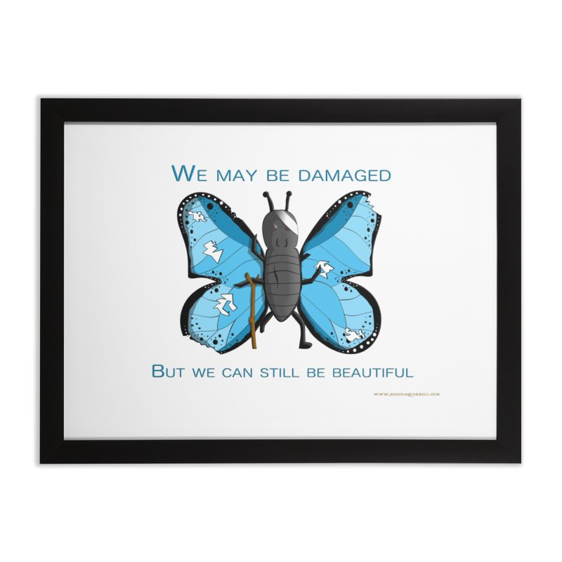 Battle Damaged Butterfly Home Framed Fine Art Print by Every Drop's An Idea's Artist Shop