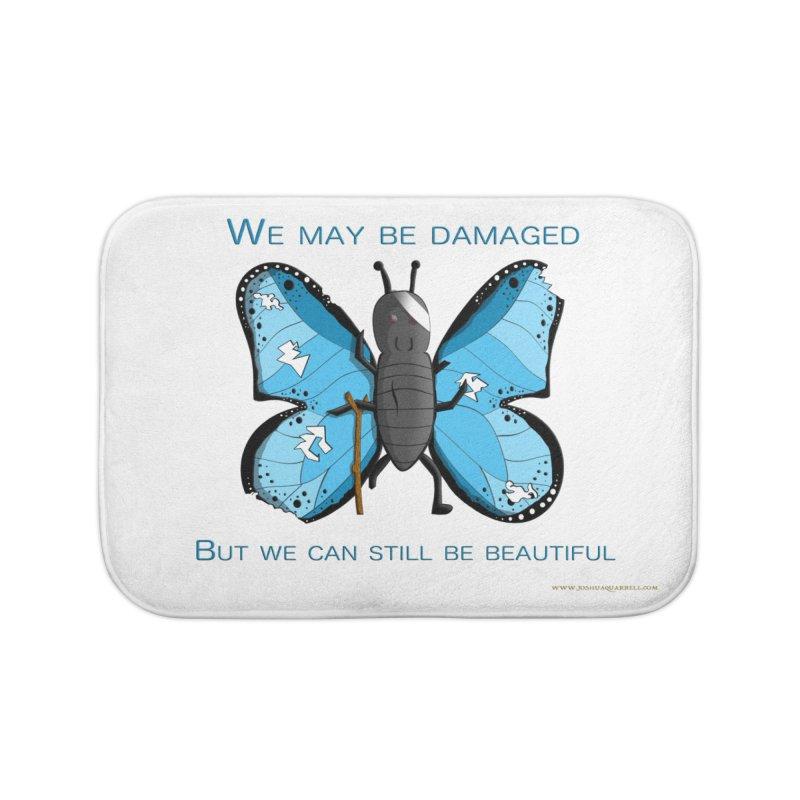 Battle Damaged Butterfly Home Bath Mat by Every Drop's An Idea's Artist Shop