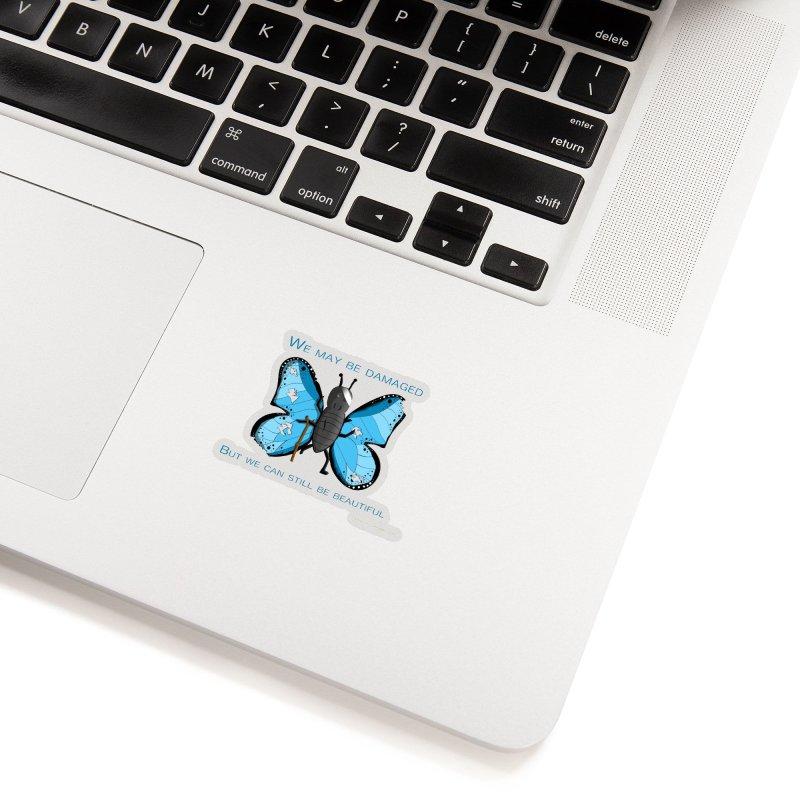Battle Damaged Butterfly Accessories Sticker by Every Drop's An Idea's Artist Shop