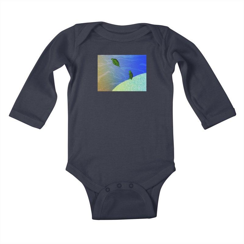The Inevitability Kids Baby Longsleeve Bodysuit by Every Drop's An Idea's Artist Shop