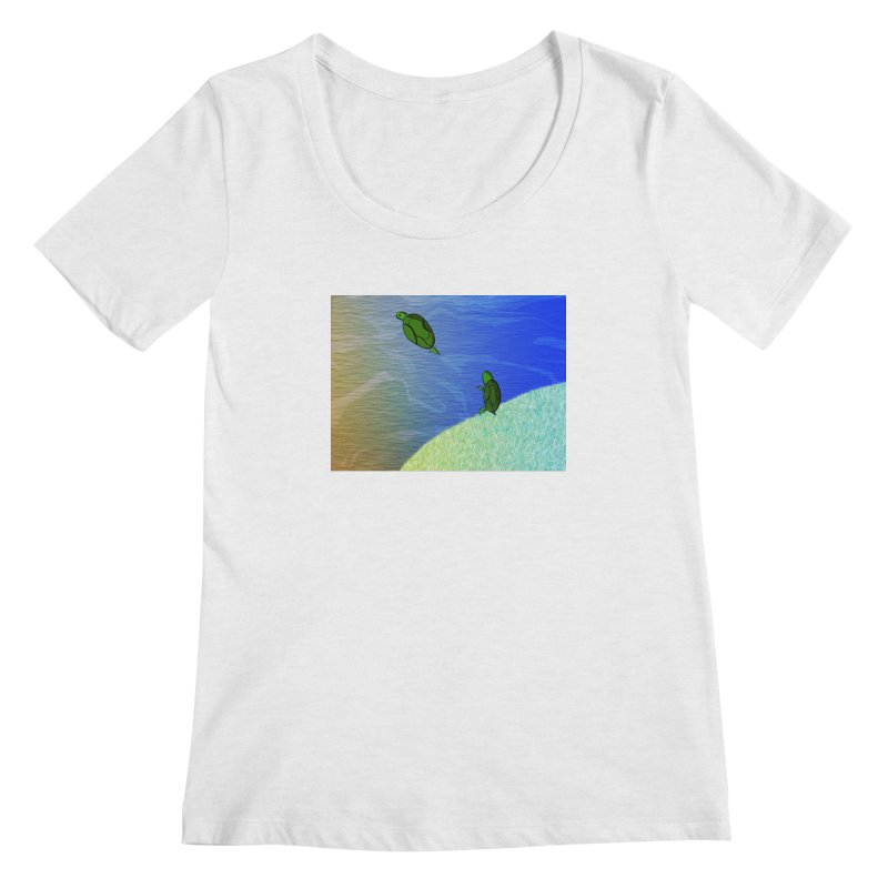 The Inevitability Women's Scoop Neck by Every Drop's An Idea's Artist Shop