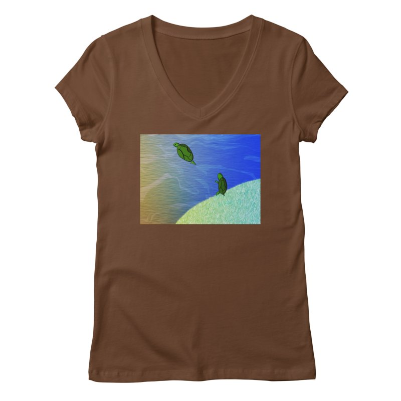 The Inevitability Women's Regular V-Neck by Every Drop's An Idea's Artist Shop