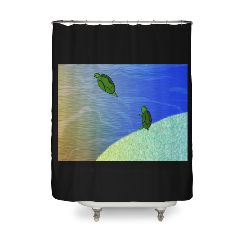 The Inevitability Home Shower Curtain by Every Drop's An Idea's Artist Shop