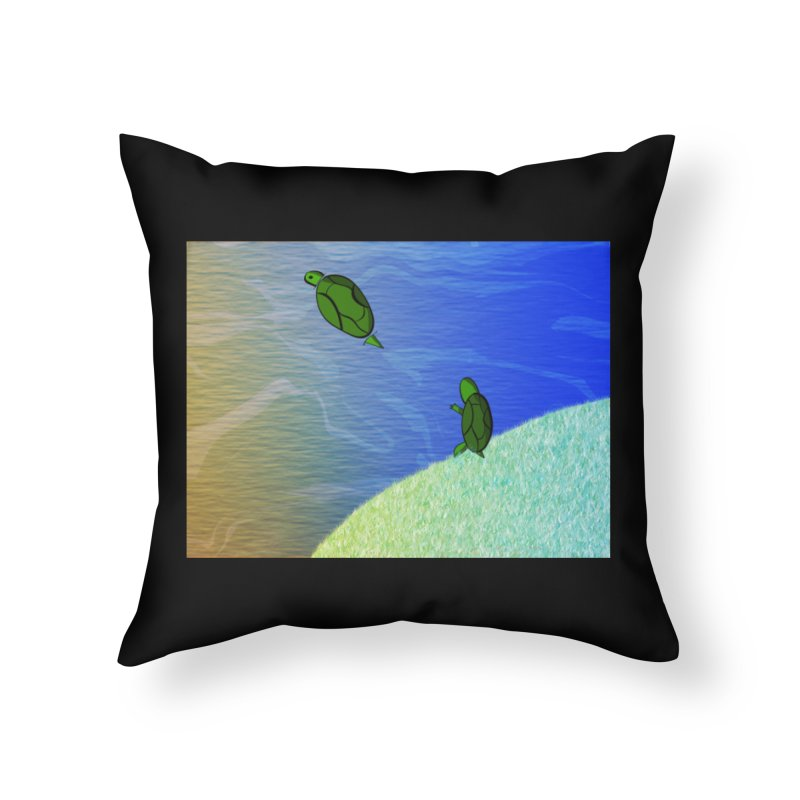 The Inevitability Home Throw Pillow by Every Drop's An Idea's Artist Shop