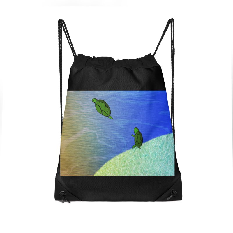 The Inevitability Accessories Drawstring Bag Bag by Every Drop's An Idea's Artist Shop