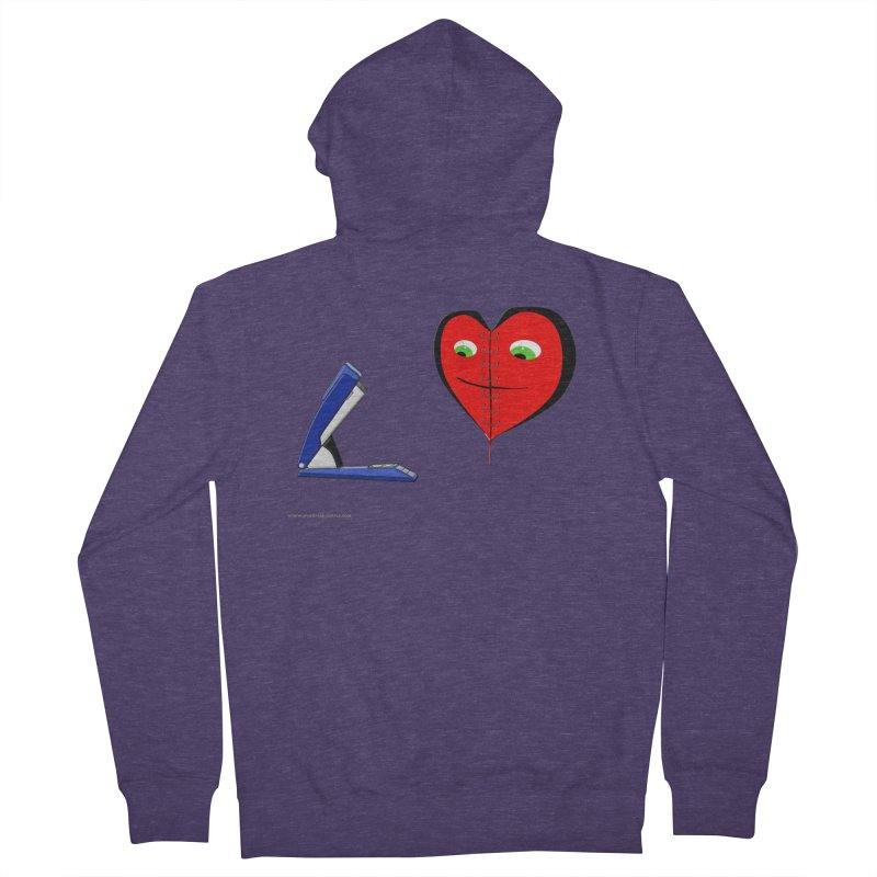Piece Me Back Together Men's French Terry Zip-Up Hoody by Every Drop's An Idea's Artist Shop