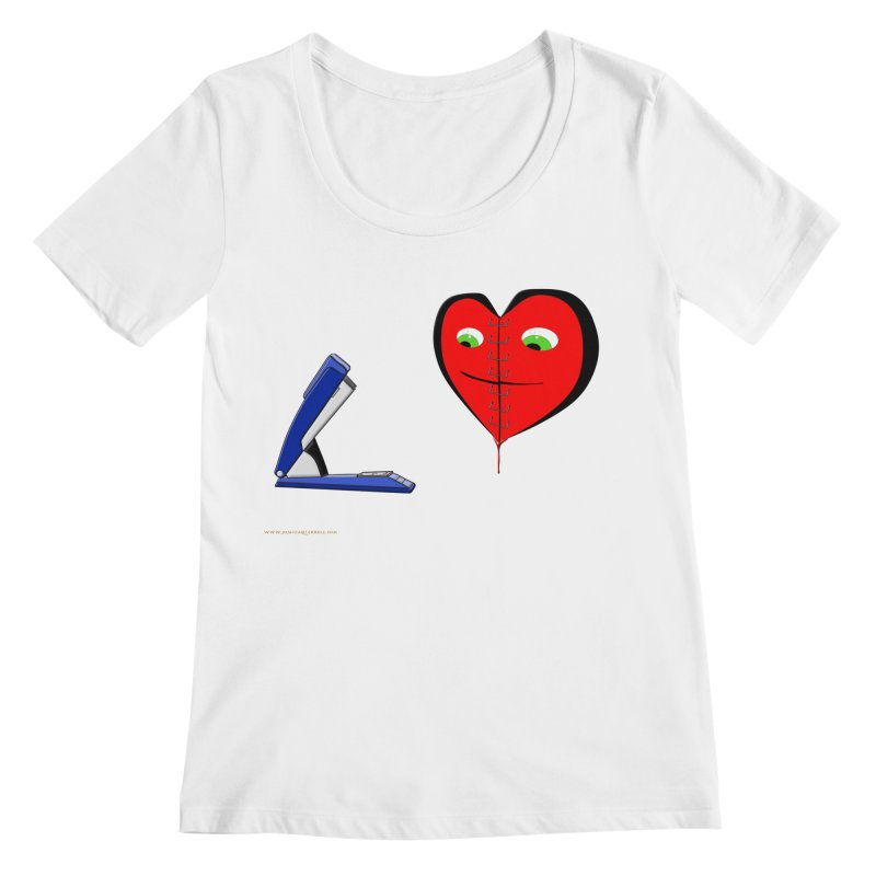 Piece Me Back Together Women's Regular Scoop Neck by Every Drop's An Idea's Artist Shop