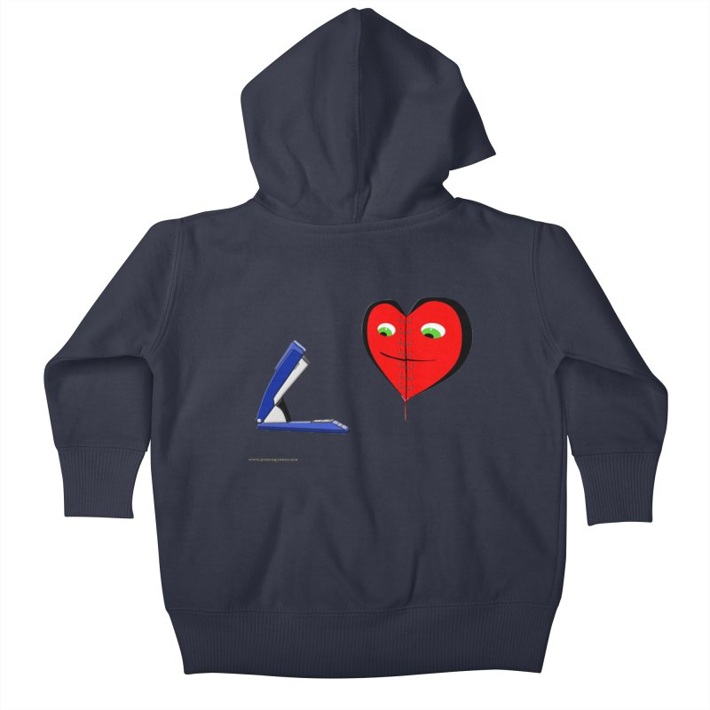 Piece Me Back Together Kids Baby Zip-Up Hoody by Every Drop's An Idea's Artist Shop