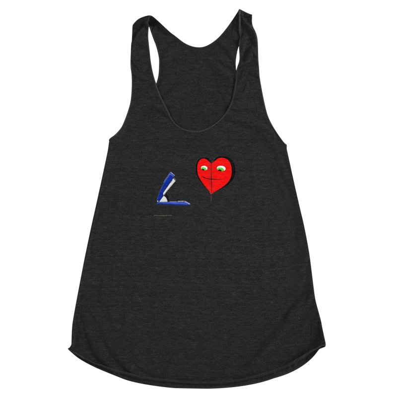 Piece Me Back Together Women's Racerback Triblend Tank by Every Drop's An Idea's Artist Shop