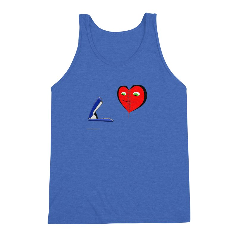 Piece Me Back Together Men's Triblend Tank by Every Drop's An Idea's Artist Shop
