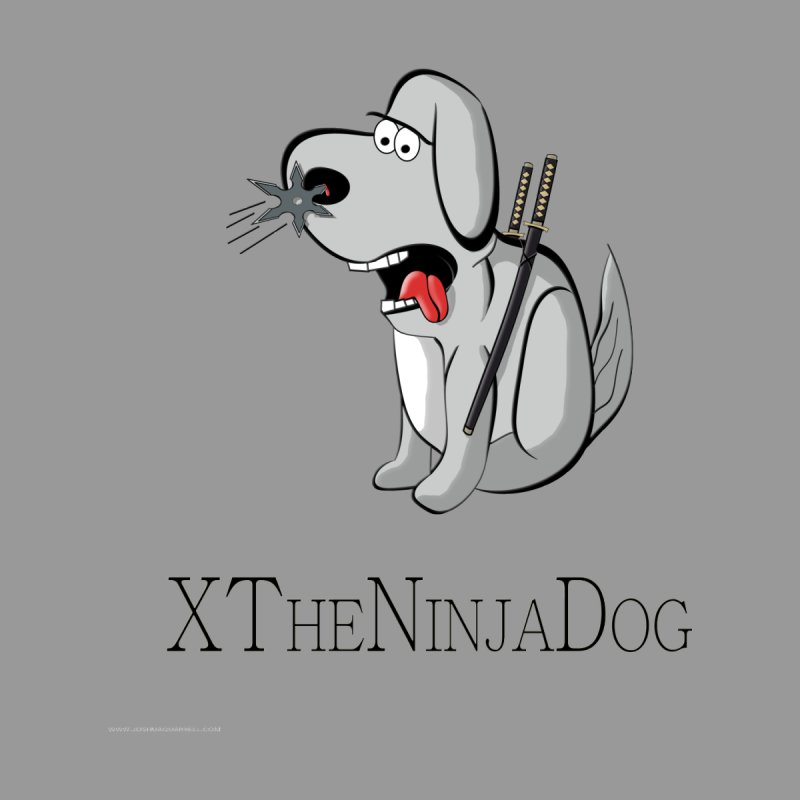 XTheNinjaDog Women's V-Neck by Every Drop's An Idea's Artist Shop