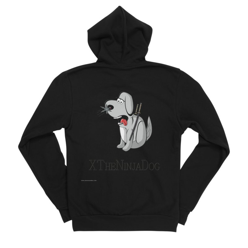 XTheNinjaDog Women's Sponge Fleece Zip-Up Hoody by Every Drop's An Idea's Artist Shop