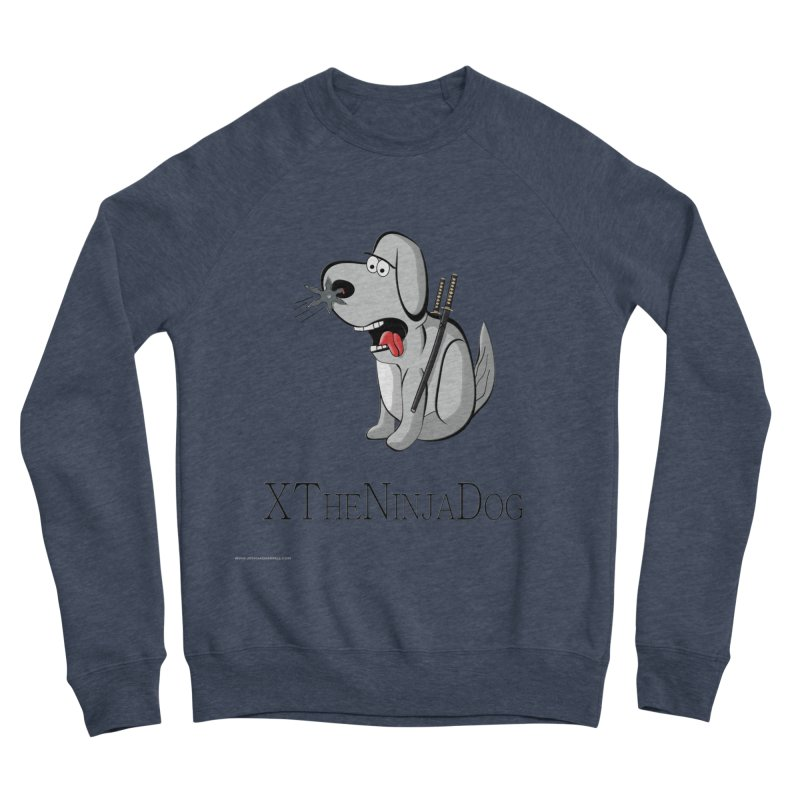 XTheNinjaDog Men's Sponge Fleece Sweatshirt by Every Drop's An Idea's Artist Shop