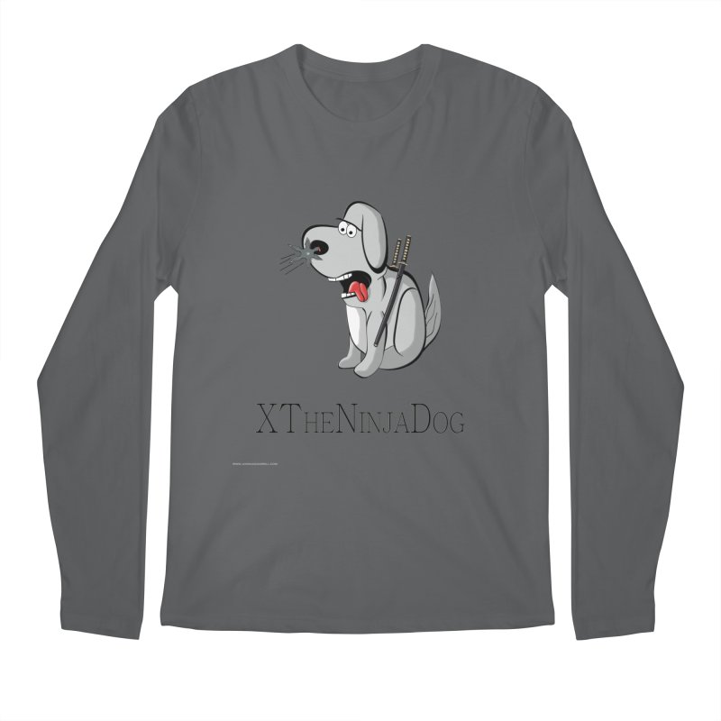 XTheNinjaDog Men's Longsleeve T-Shirt by Every Drop's An Idea's Artist Shop