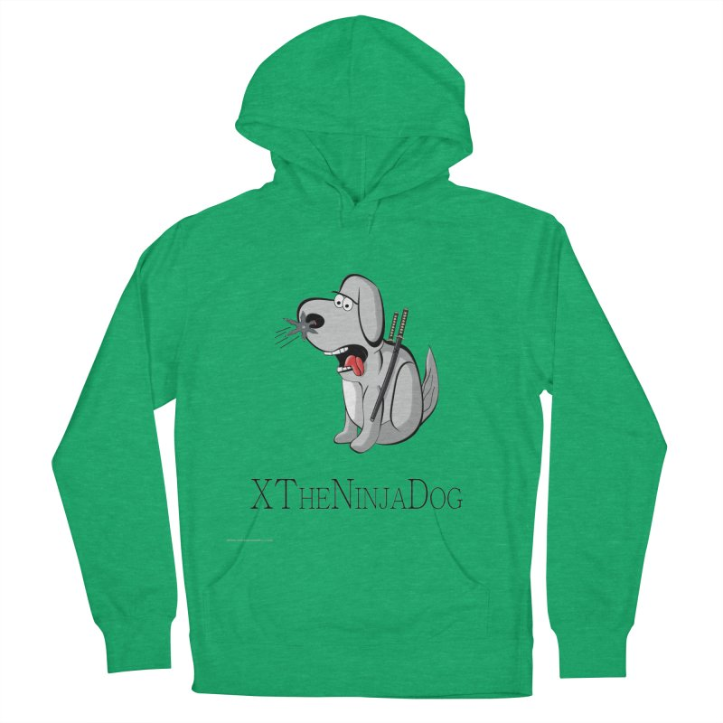 XTheNinjaDog Women's French Terry Pullover Hoody by Every Drop's An Idea's Artist Shop