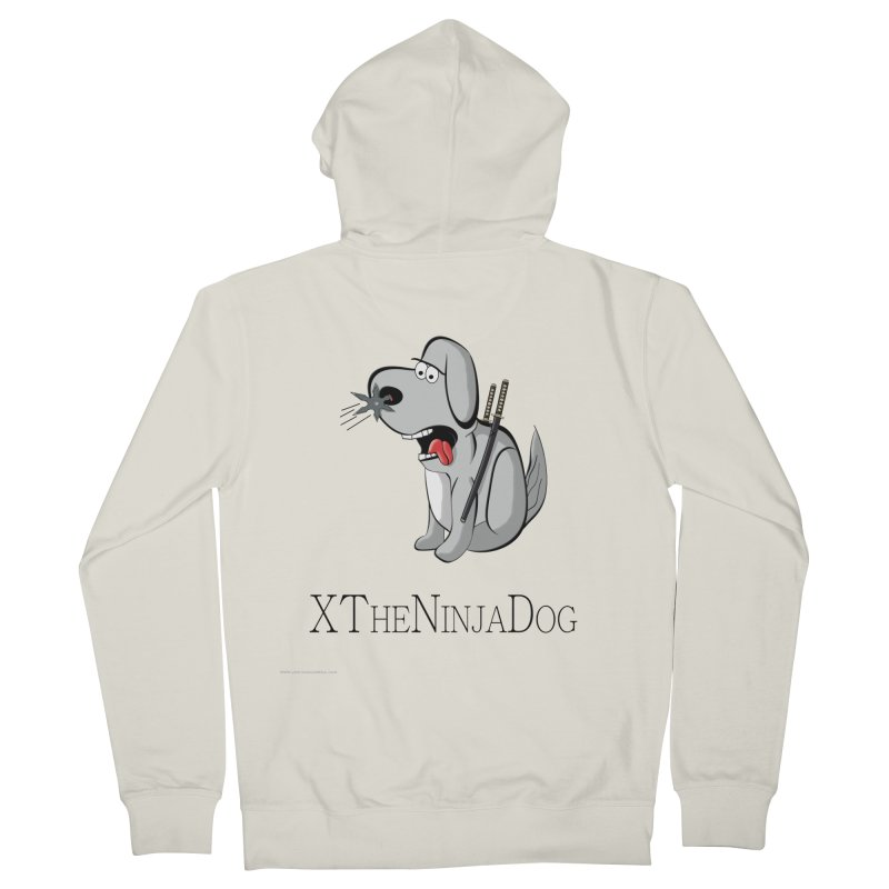 XTheNinjaDog Women's French Terry Zip-Up Hoody by Every Drop's An Idea's Artist Shop