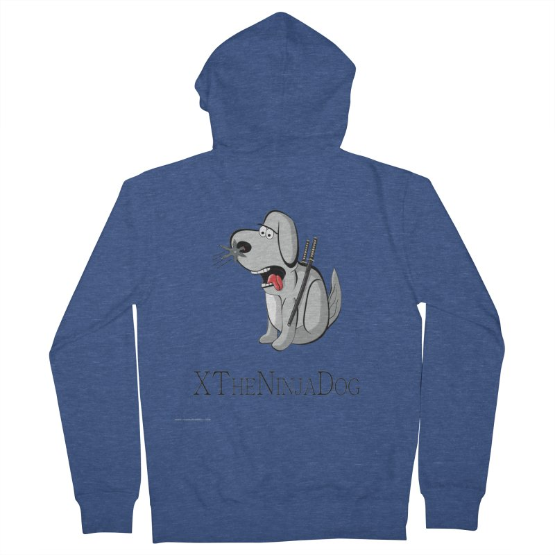 XTheNinjaDog Men's French Terry Zip-Up Hoody by Every Drop's An Idea's Artist Shop