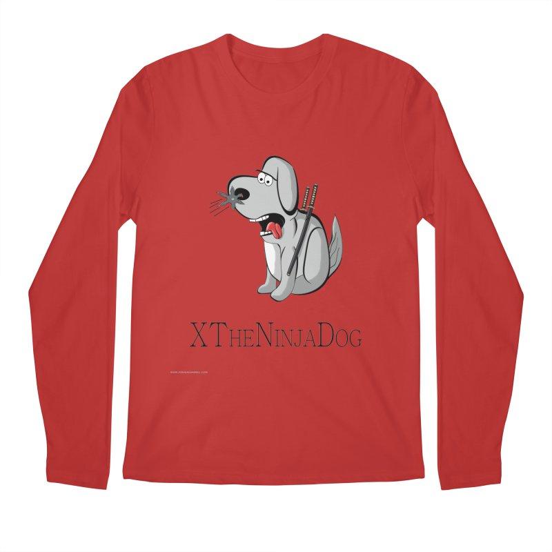 XTheNinjaDog Men's Regular Longsleeve T-Shirt by Every Drop's An Idea's Artist Shop
