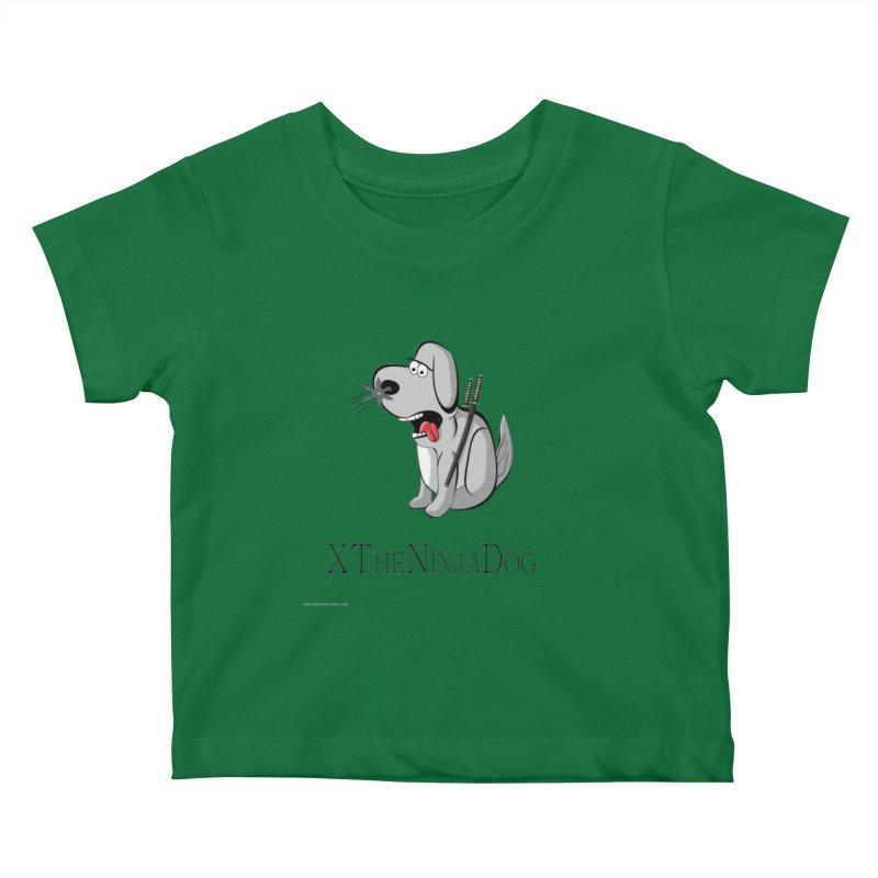 XTheNinjaDog Kids Baby T-Shirt by Every Drop's An Idea's Artist Shop