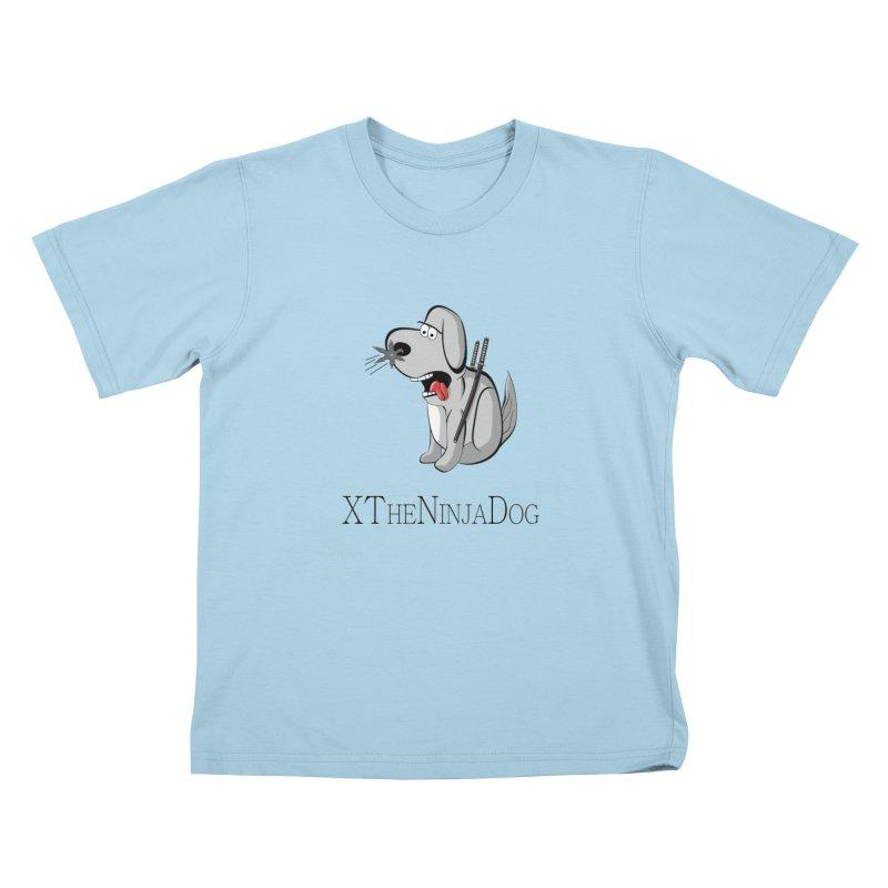 XTheNinjaDog Kids T-Shirt by Every Drop's An Idea's Artist Shop