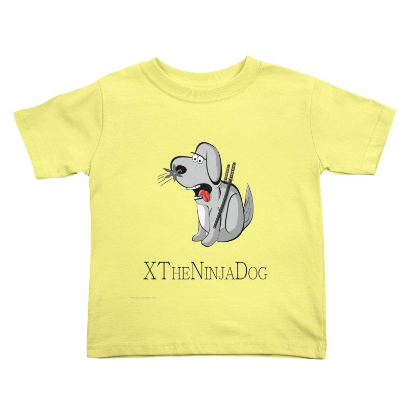XTheNinjaDog Kids Toddler T-Shirt by Every Drop's An Idea's Artist Shop