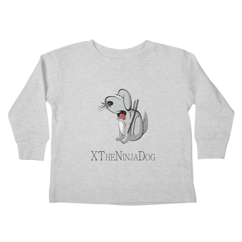 XTheNinjaDog Kids Toddler Longsleeve T-Shirt by Every Drop's An Idea's Artist Shop