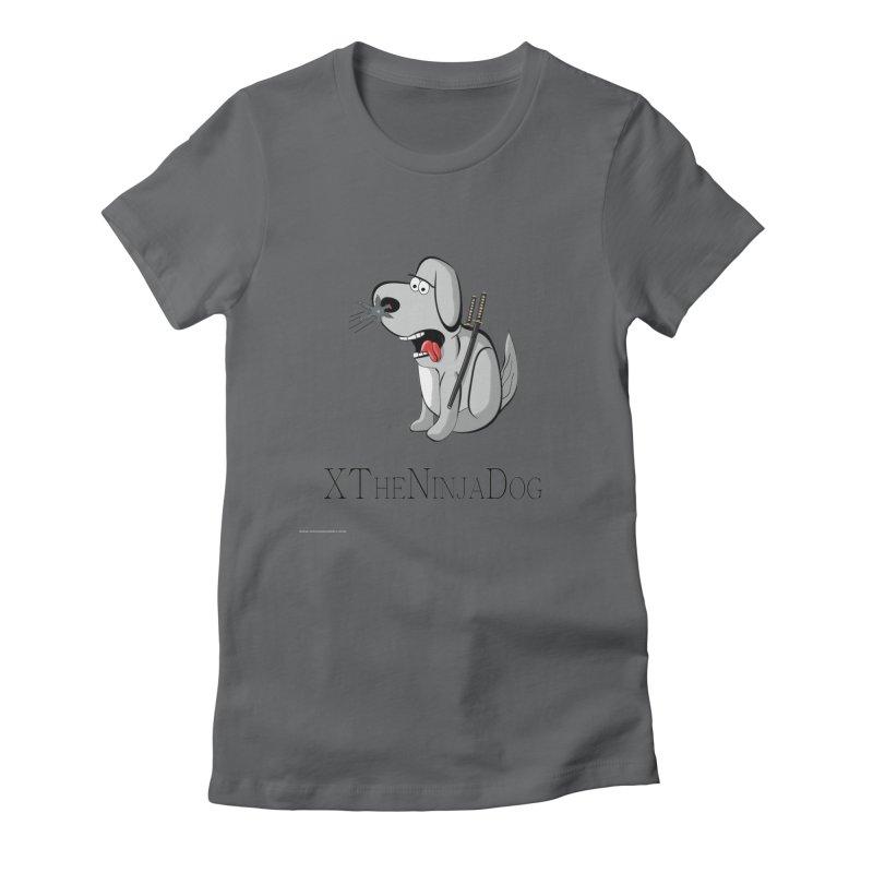 XTheNinjaDog Women's Fitted T-Shirt by Every Drop's An Idea's Artist Shop