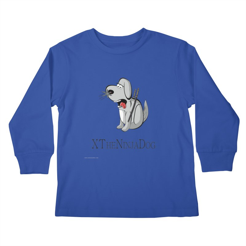 XTheNinjaDog Kids Longsleeve T-Shirt by Every Drop's An Idea's Artist Shop