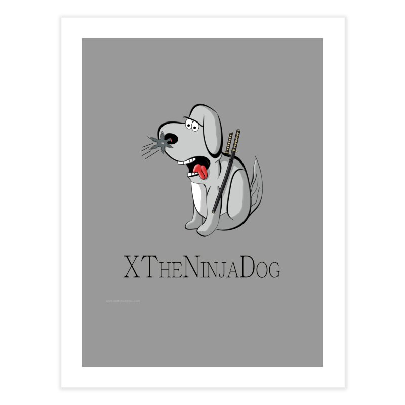 XTheNinjaDog Home Fine Art Print by Every Drop's An Idea's Artist Shop