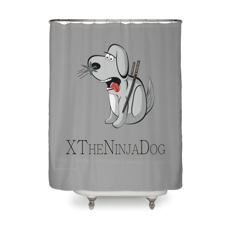 XTheNinjaDog Home Shower Curtain by Every Drop's An Idea's Artist Shop