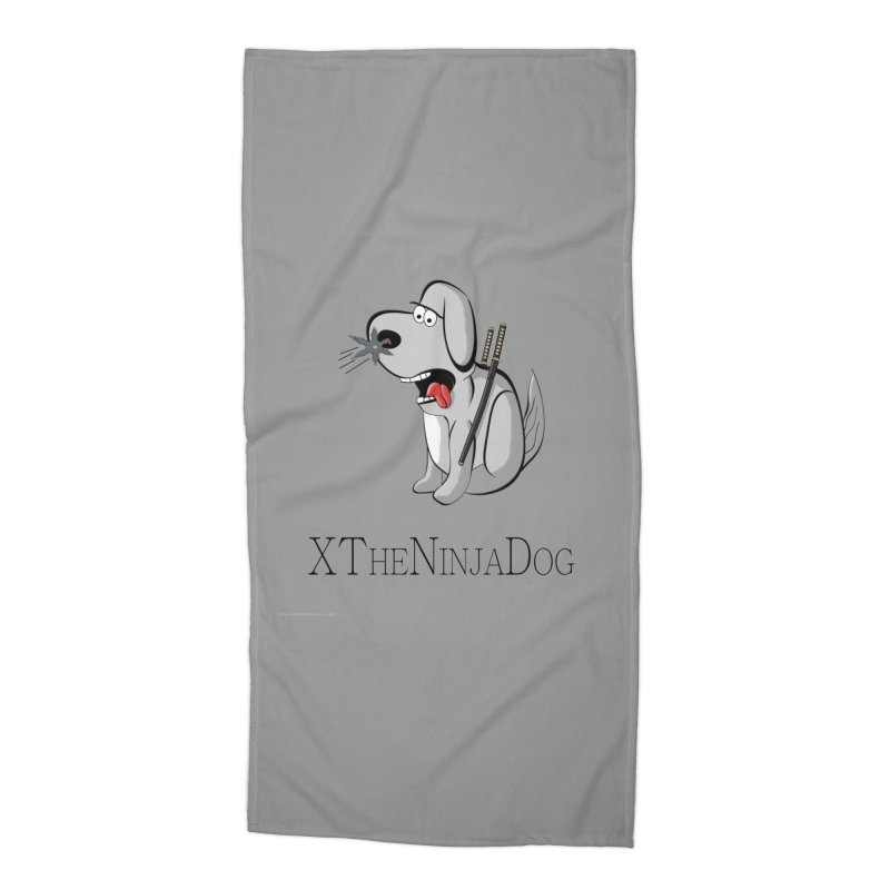 XTheNinjaDog Accessories Beach Towel by Every Drop's An Idea's Artist Shop