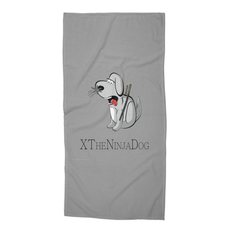 XTheNinjaDog Accessories Beach Towel by Every Drop's An Idea's Artist Shop