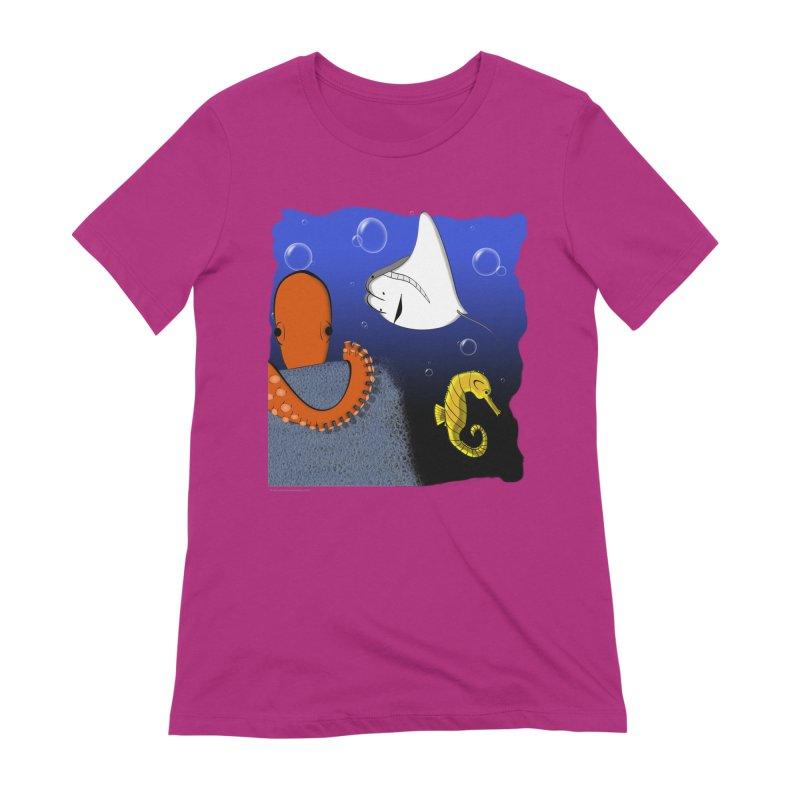 Sea Life Women's Extra Soft T-Shirt by Every Drop's An Idea's Artist Shop