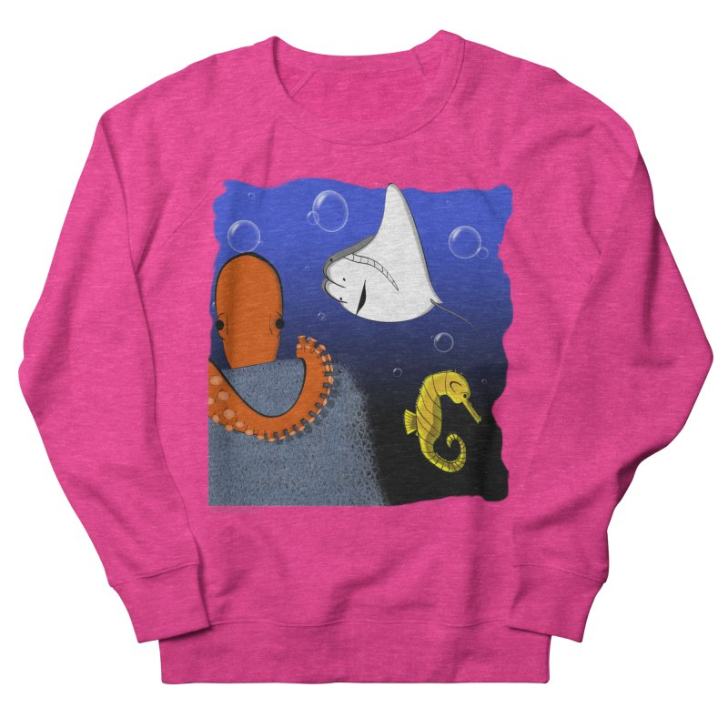 Sea Life Women's French Terry Sweatshirt by Every Drop's An Idea's Artist Shop