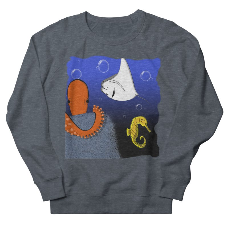 Sea Life Men's French Terry Sweatshirt by Every Drop's An Idea's Artist Shop