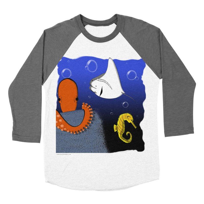 Sea Life Men's Baseball Triblend Longsleeve T-Shirt by Every Drop's An Idea's Artist Shop