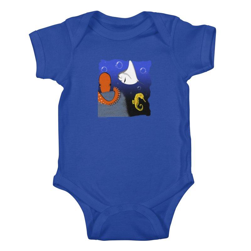 Sea Life Kids Baby Bodysuit by Every Drop's An Idea's Artist Shop