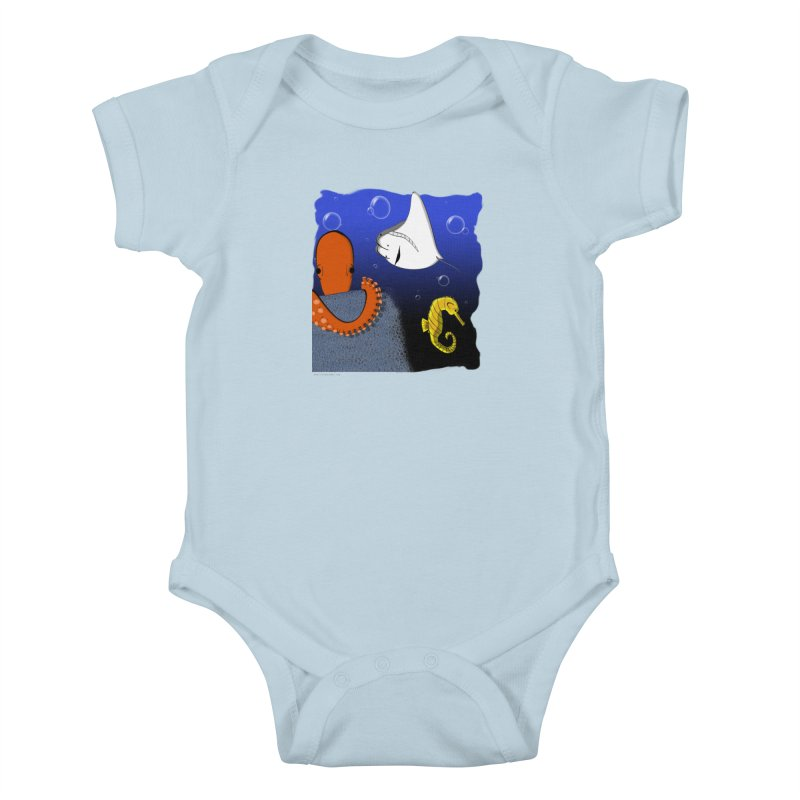 Sea Life Kids Baby Bodysuit by Every Drop's An Idea's Artist Shop