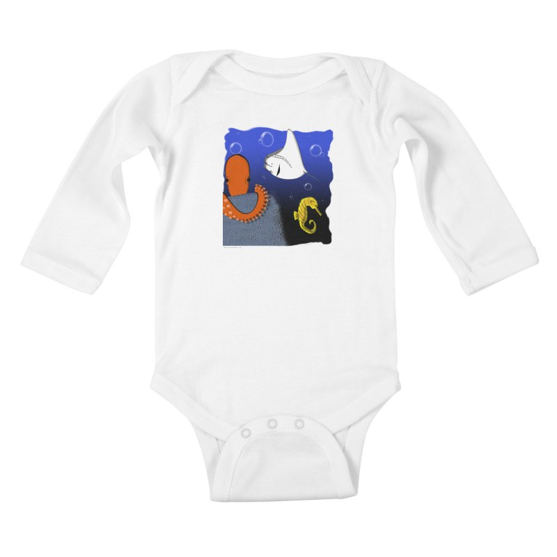 Sea Life Kids Baby Longsleeve Bodysuit by Every Drop's An Idea's Artist Shop