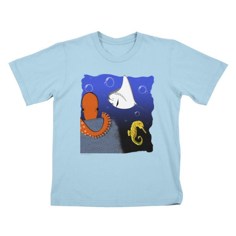 Sea Life Kids T-Shirt by Every Drop's An Idea's Artist Shop