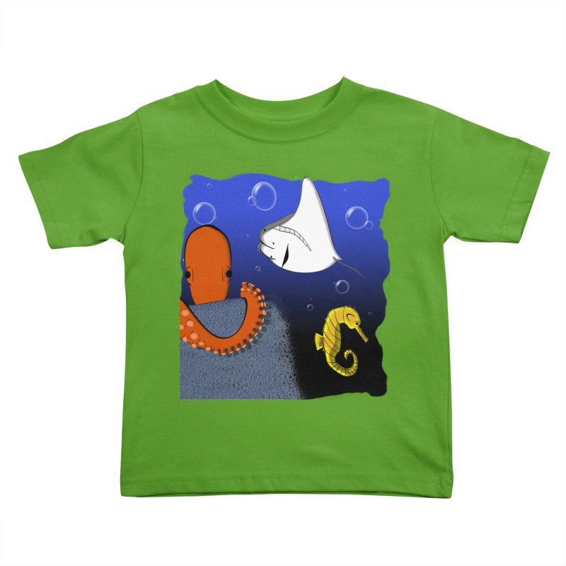 Sea Life Kids Toddler T-Shirt by Every Drop's An Idea's Artist Shop