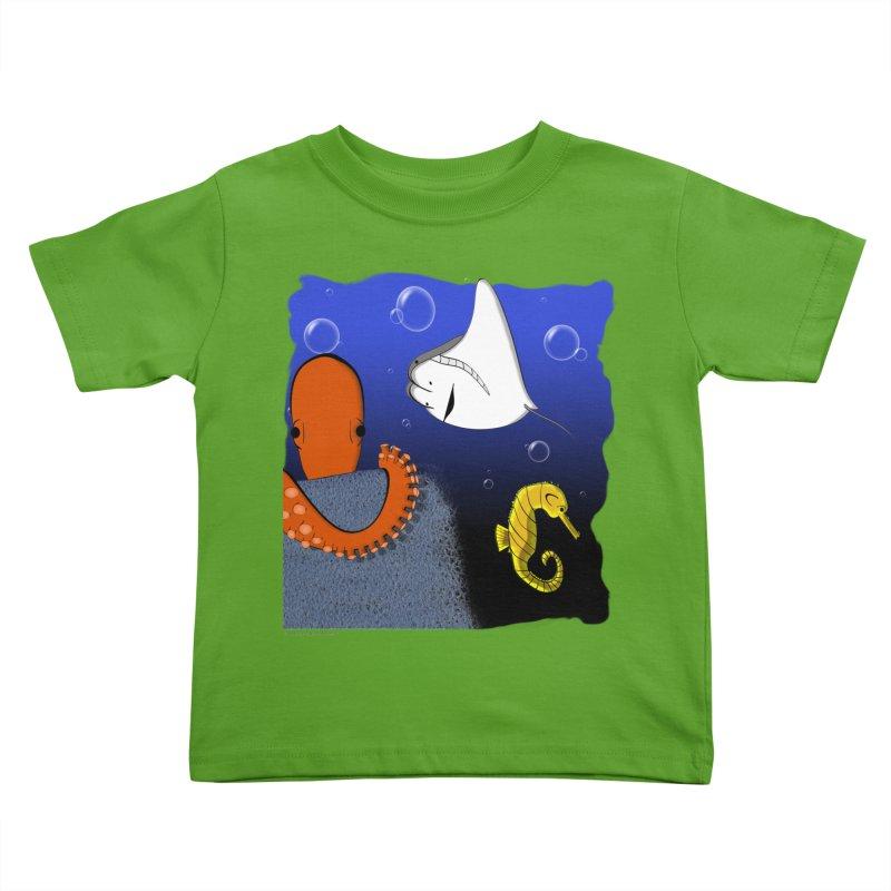Sea Life Kids Toddler T-Shirt by Every Drop's An Idea's Artist Shop