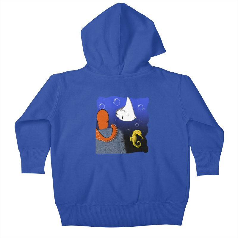 Sea Life Kids Baby Zip-Up Hoody by Every Drop's An Idea's Artist Shop