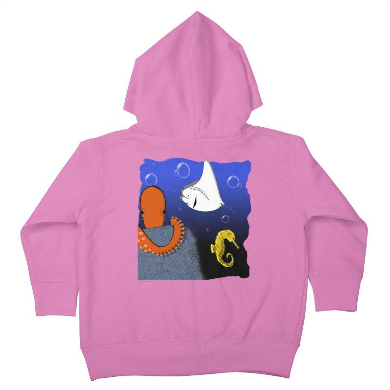 Sea Life Kids Toddler Zip-Up Hoody by Every Drop's An Idea's Artist Shop