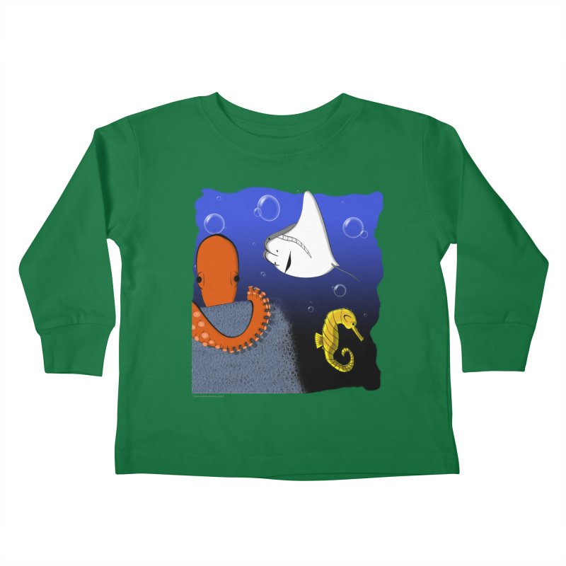 Sea Life Kids Toddler Longsleeve T-Shirt by Every Drop's An Idea's Artist Shop
