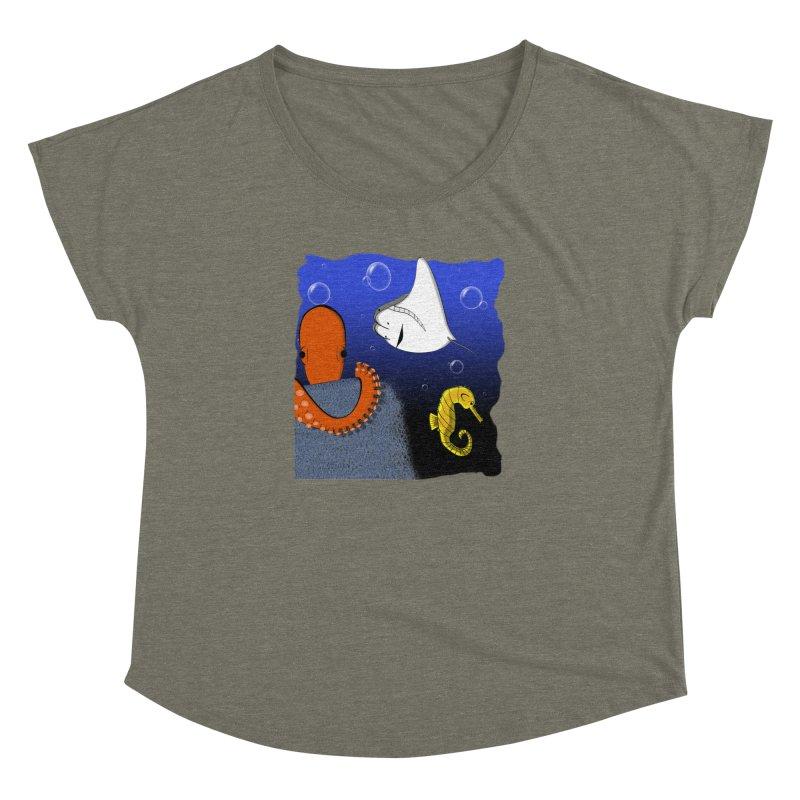 Sea Life Women's Dolman Scoop Neck by Every Drop's An Idea's Artist Shop